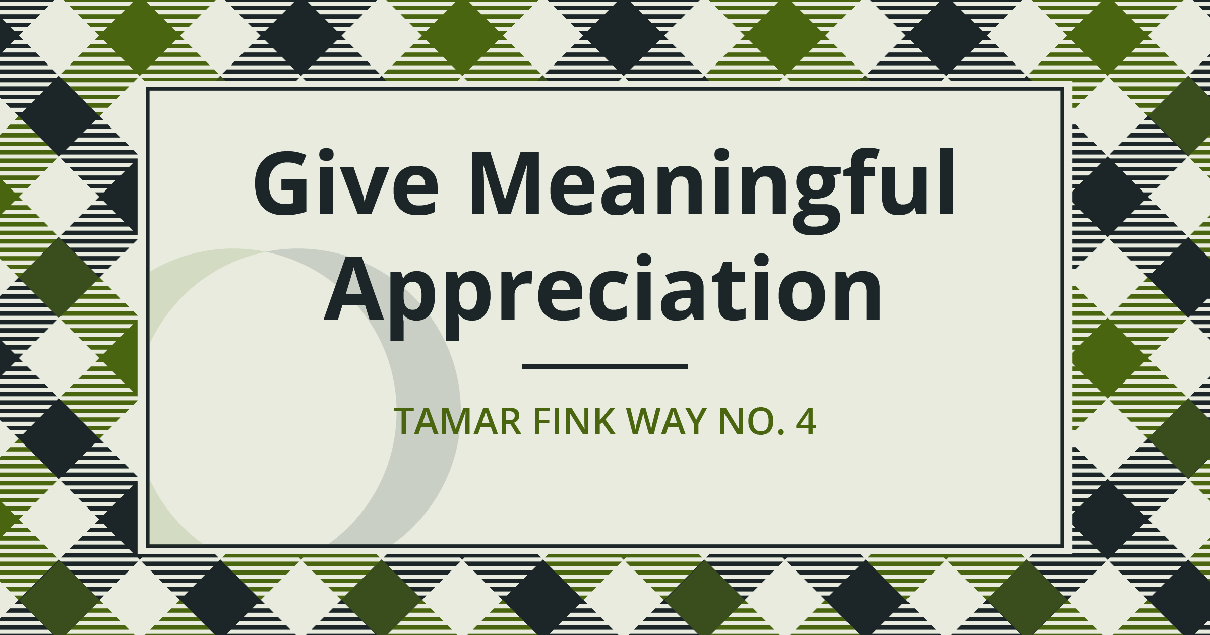 The Tamar Fink Way – #4