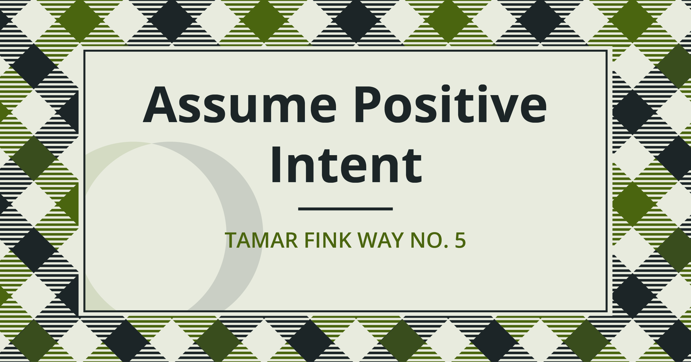 The Tamar Fink Way – #5