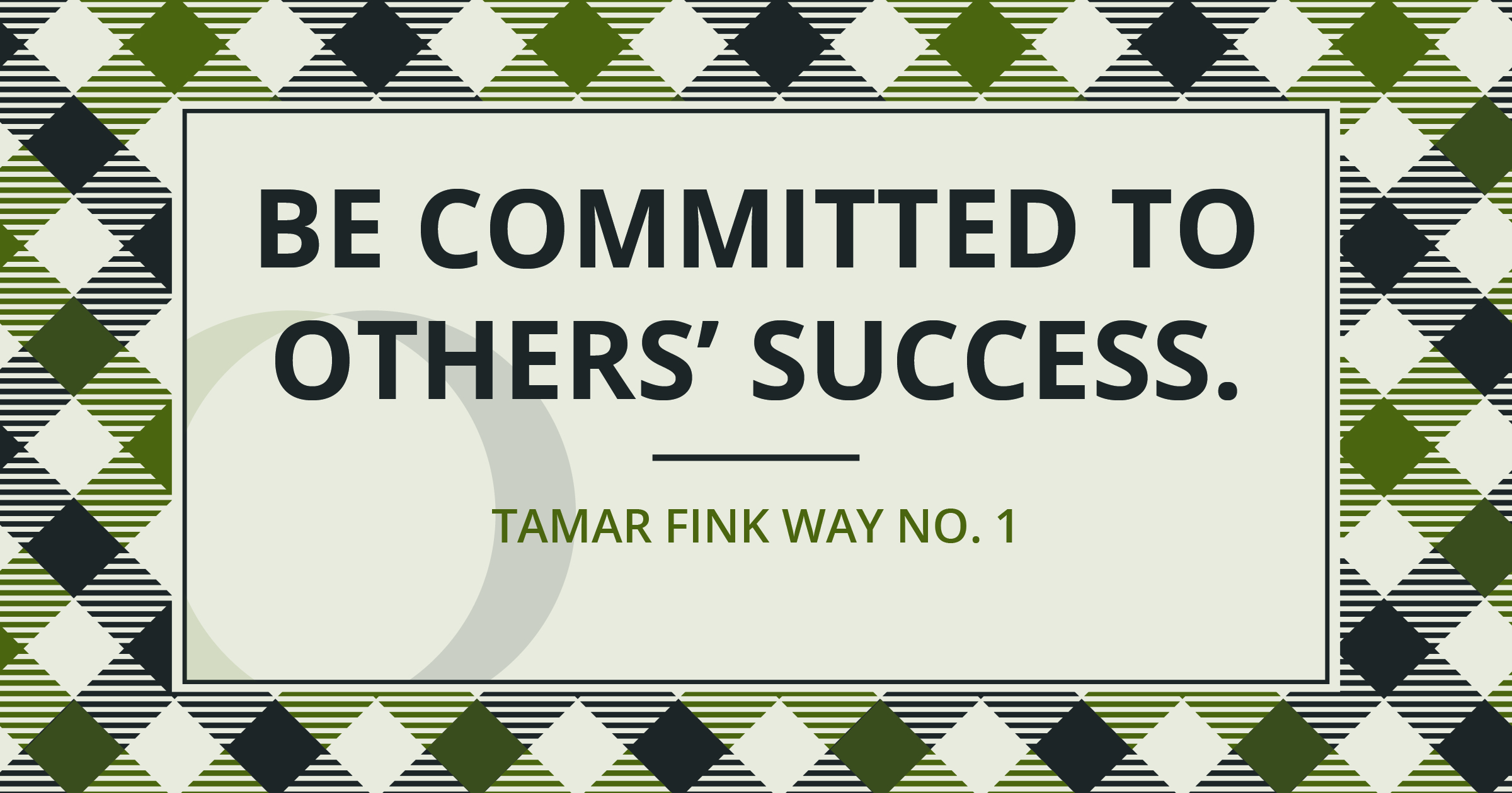 The Tamar Fink Way - #1