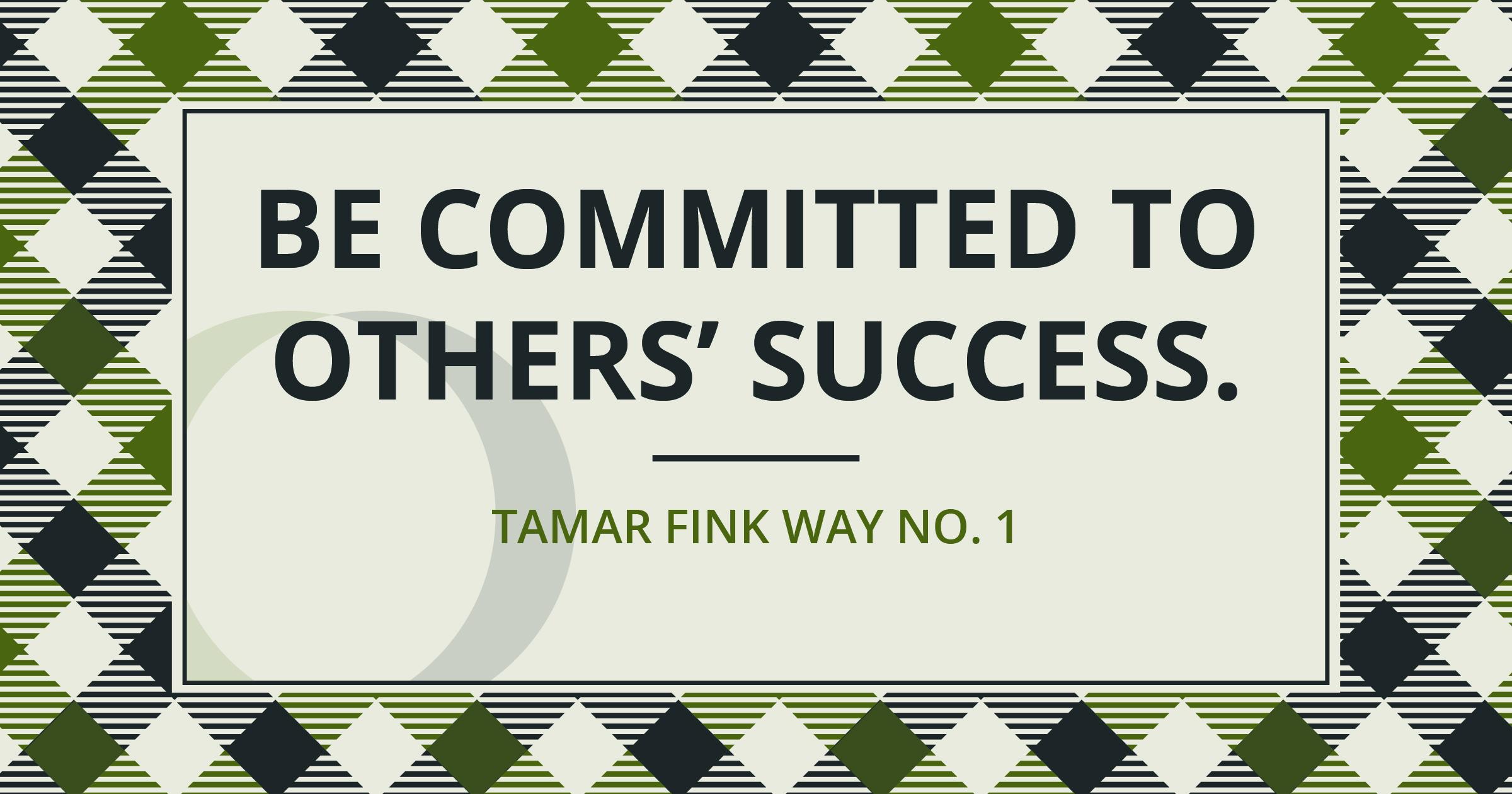 The Tamar Fink Way - #1