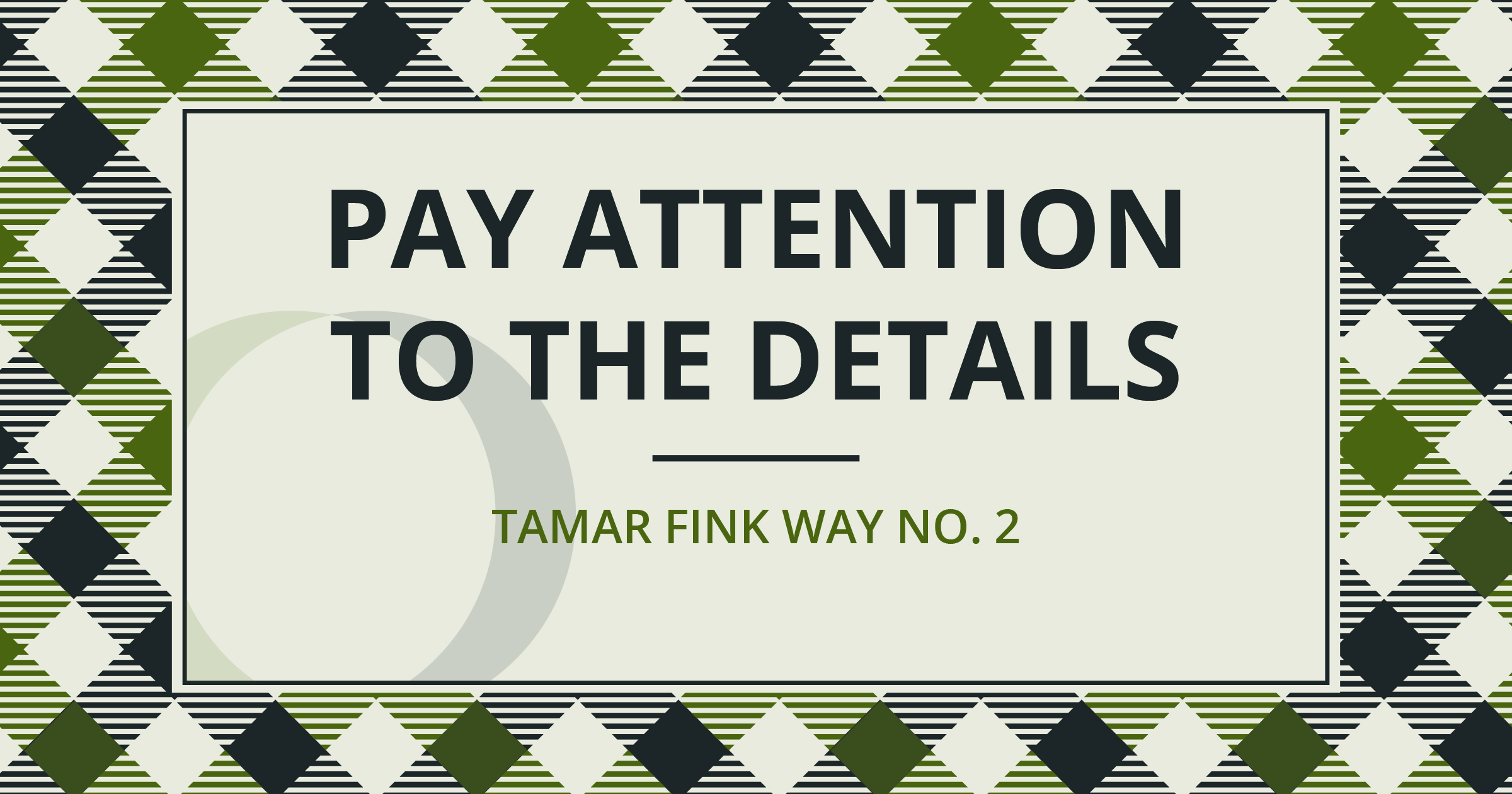 The Tamar Fink Way - #2