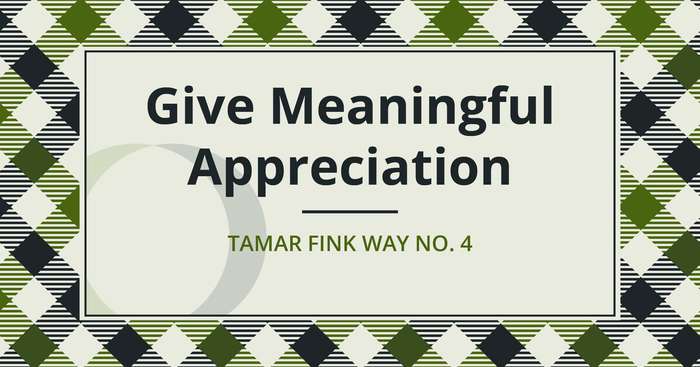 The Tamar Fink Way – #4