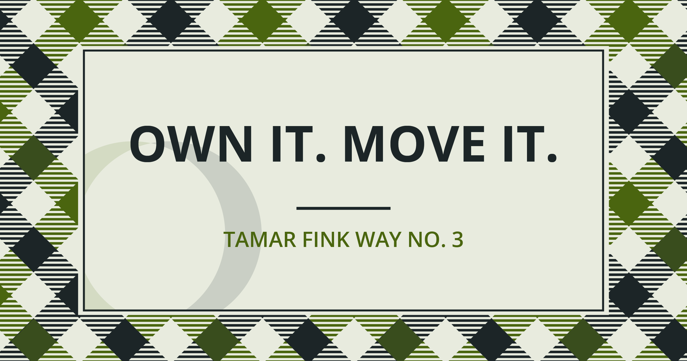 The Tamar Fink Way - #3