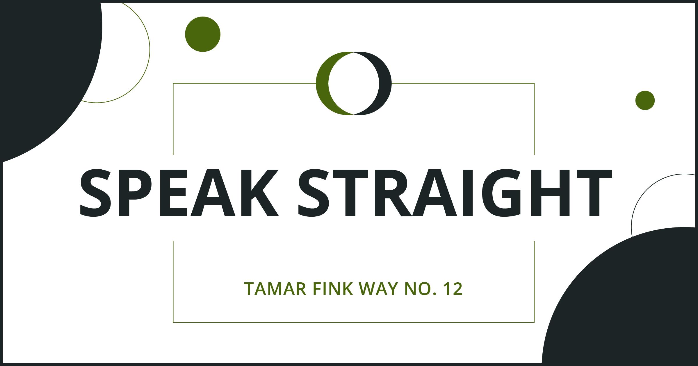 The Tamar Fink Way – #12