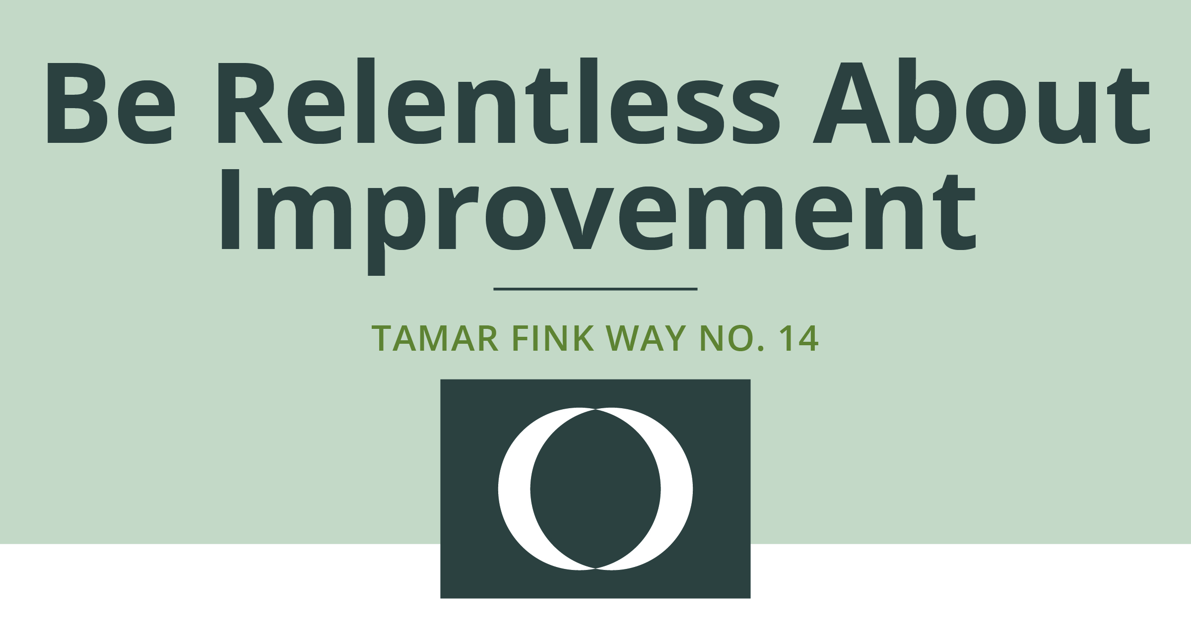 The Tamar Fink Way – #14